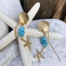 the summer 〜Turquoise with gold Shellfish〜