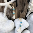 Turquoise with Tassel 〜white〜