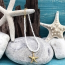 shell&starfish ホワイト×ゴールド