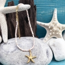 shell&starfish ピンク×ゴールド