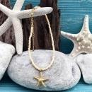 shell&starfish オレンジ×ゴールド