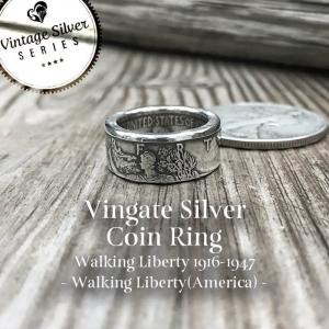 シルバーコインリング  Walking Liberty(自由の女神)