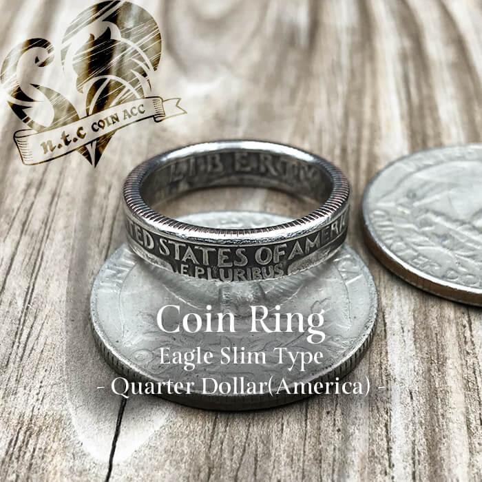 [リング]コインリング Quarter -Eagle- Slim