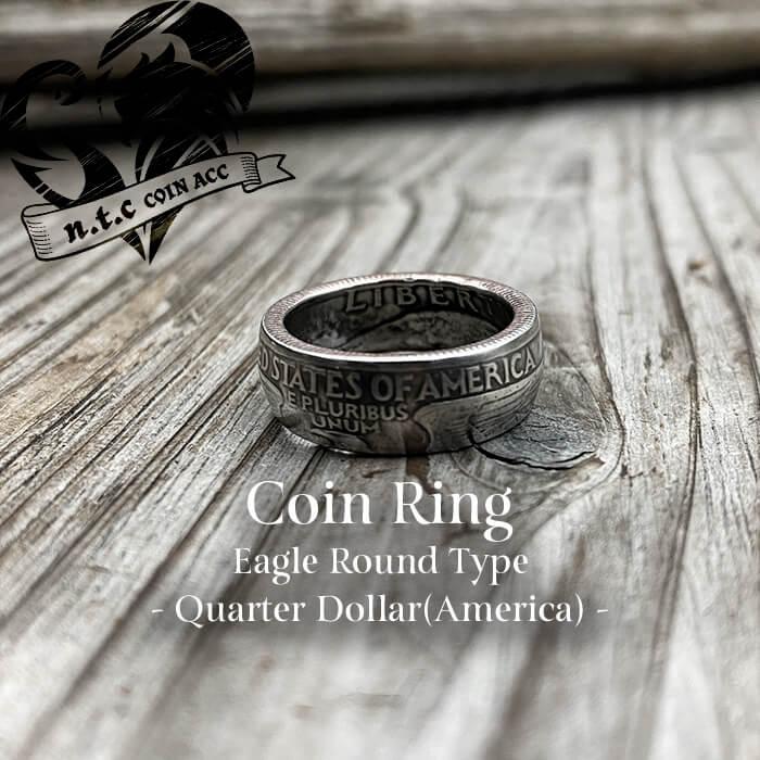 [リング]コインリング Quarter -Eagle- ラウンドタイプ