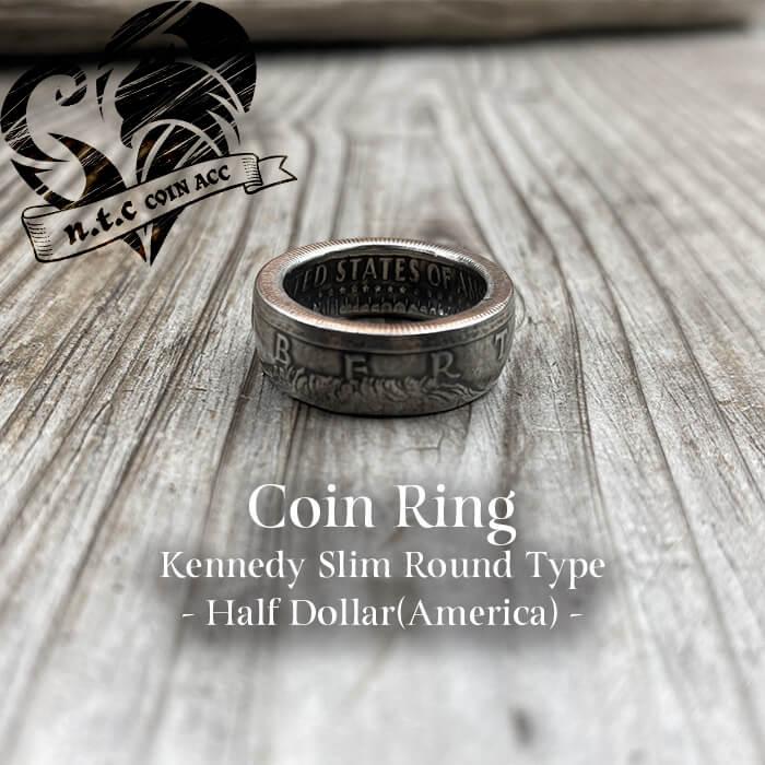 [リング]コインリング Half Dollar -Kennedy- Slim ラウンドタイプ